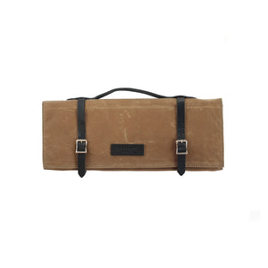 Knife Roll - Waxed Canvas - Field Tan