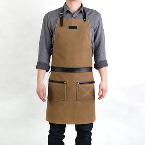 Rugged Apron - Waxed Canvas - Field Tan
