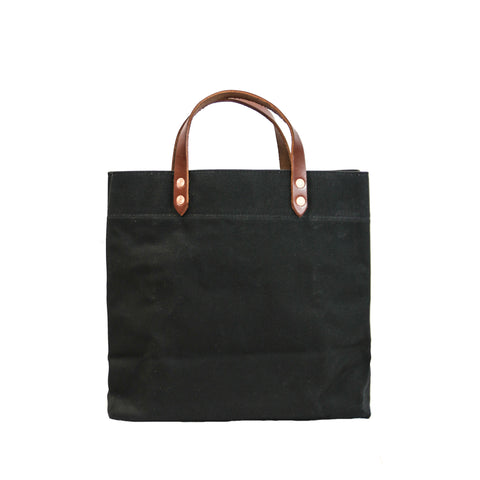 Grocery Tote - Waxed Canvas - Black
