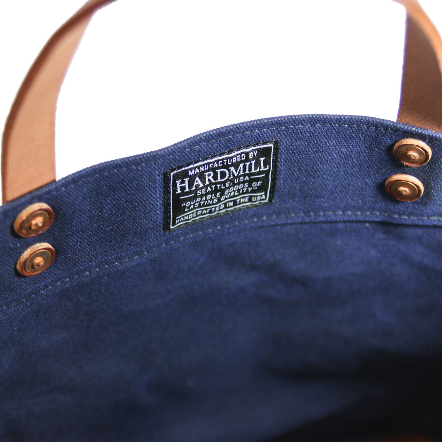 Grocery Tote - Waxed Canvas - Navy