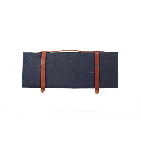 Knife Roll - Waxed Denim - Indigo