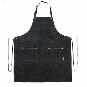 Industry Apron - Waxed Denim - Black