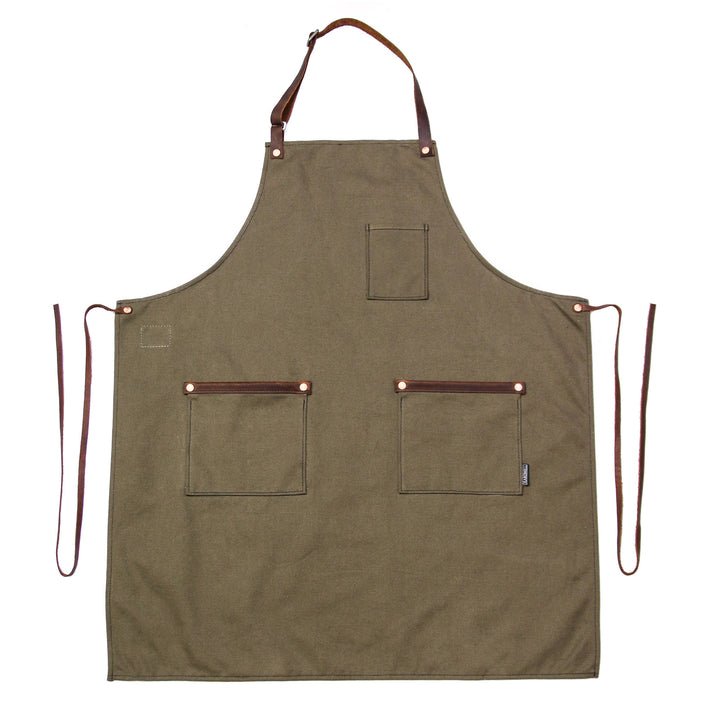 Industry Apron - Standard Canvas - Moss