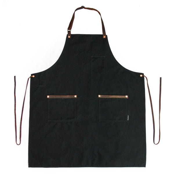 Industry Apron - Waxed Canvas - Black