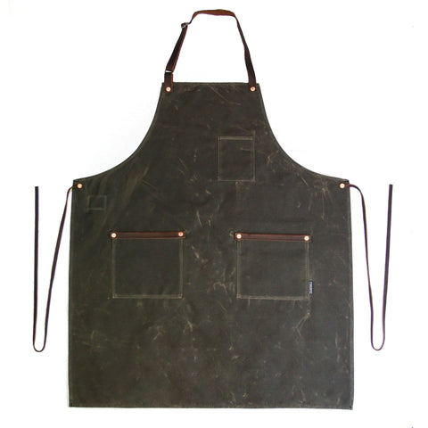 Industry Apron - Waxed Canvas - Dark Oak