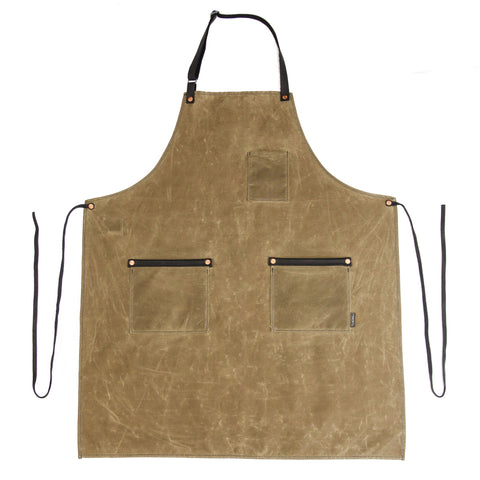 Industry Apron - Waxed Canvas - Field Tan