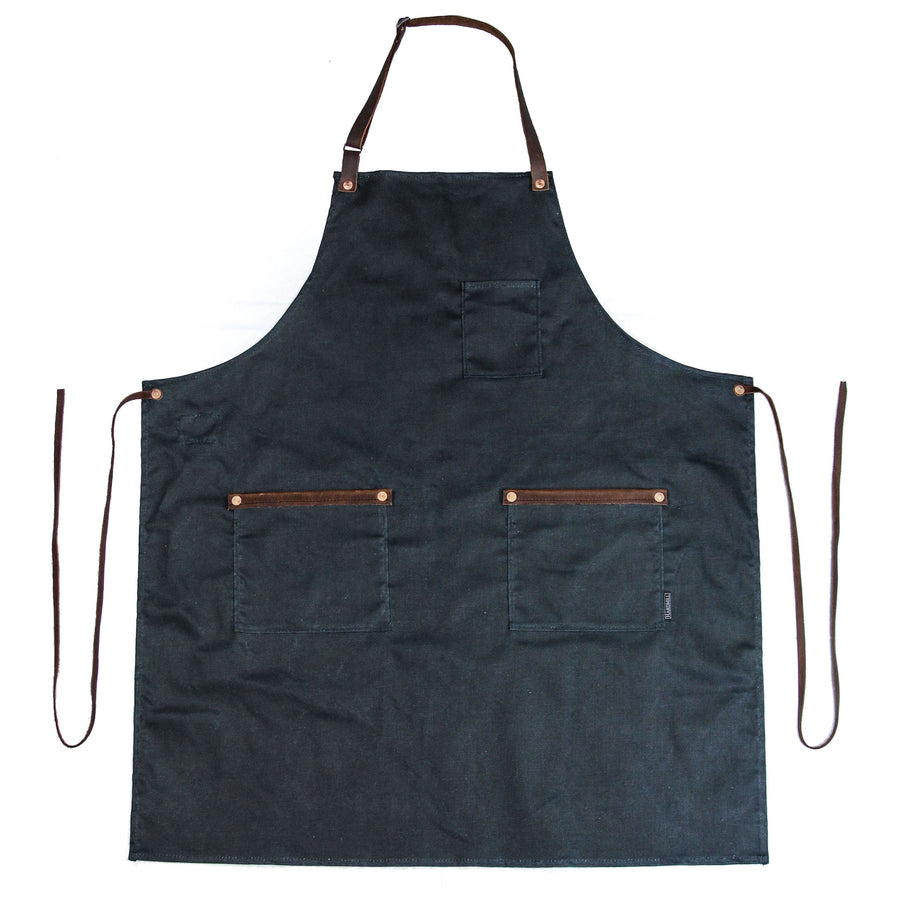 Industry Apron - Waxed Denim - Indigo