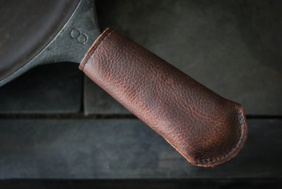 Leather Cast Iron Skillet Handle Cover