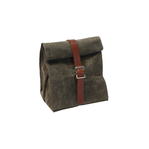 Lunch Tote - Waxed Canvas - Dark Oak