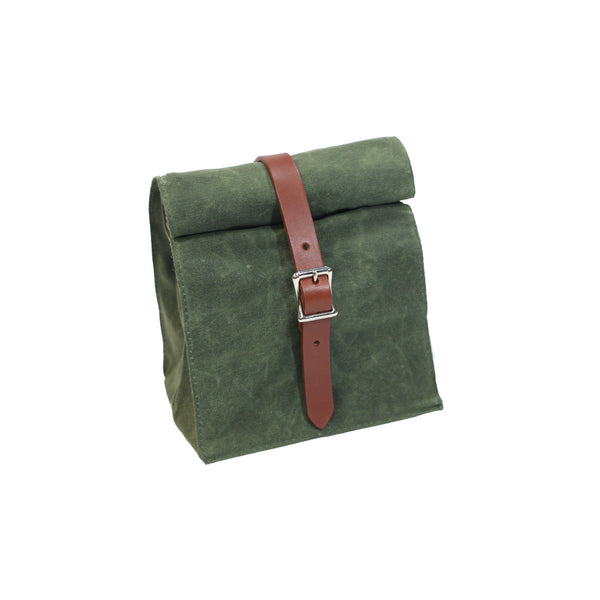 Lunch Tote - Waxed Canvas - Olive