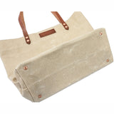 Market Tote - Waxed Canvas - Natural
