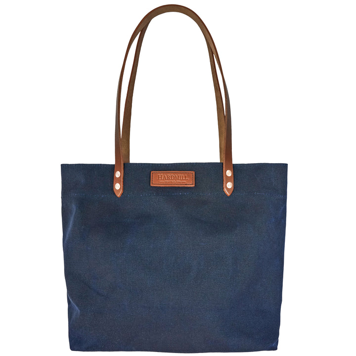 Market Tote - Waxed Canvas - Navy