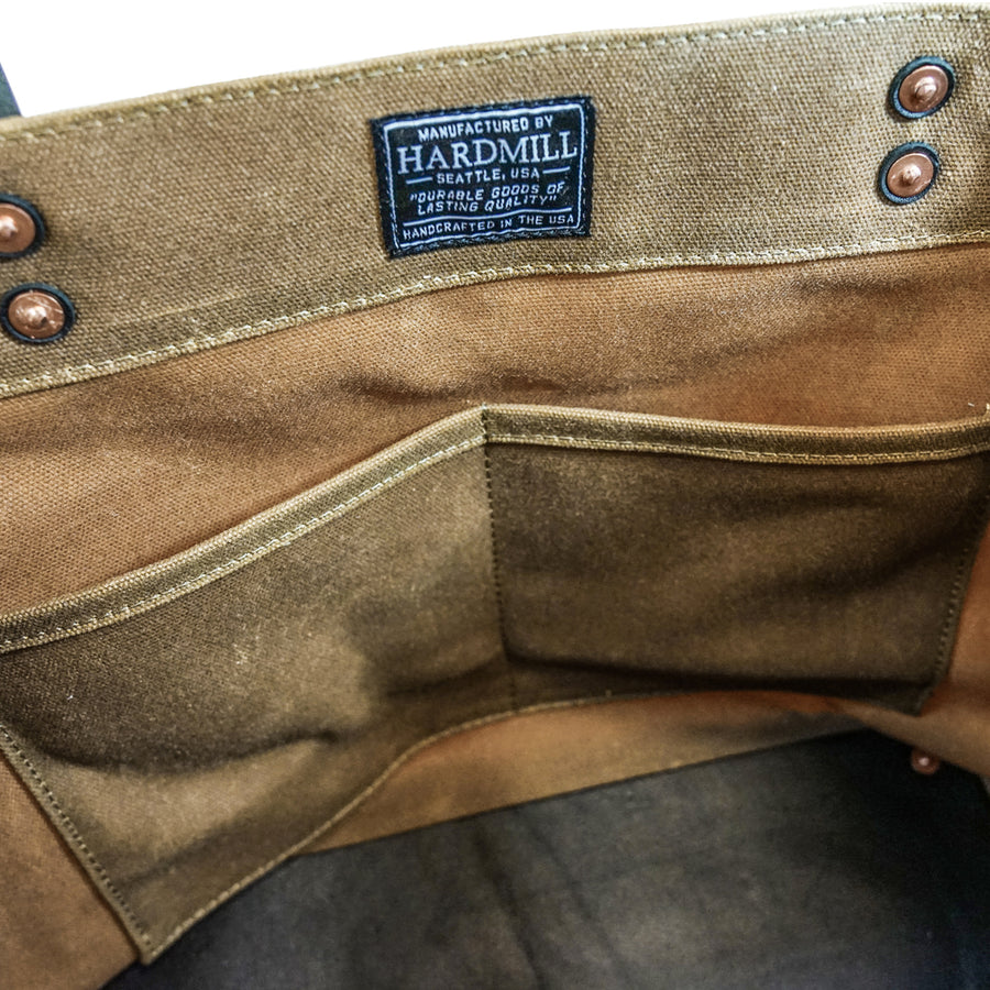 Market Tote - Waxed Canvas - Tan