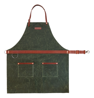 Rugged Apron - Waxed Canvas - Olive