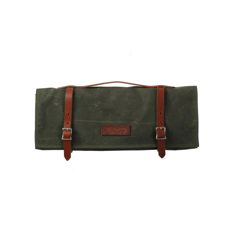 Knife Roll - Waxed Canvas - Olive