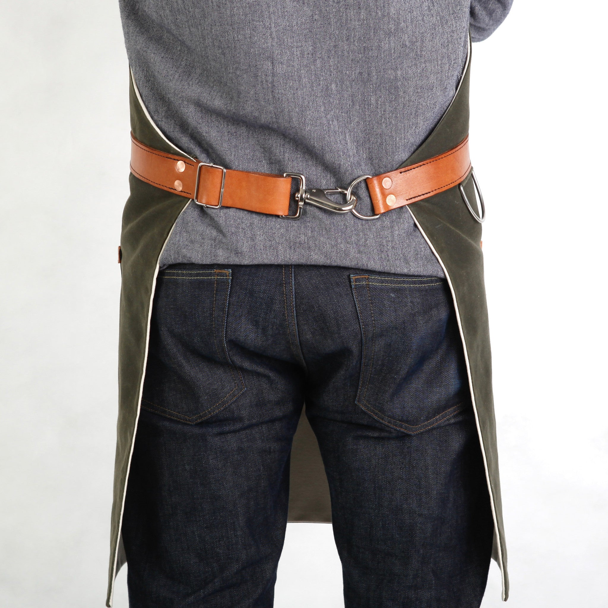 Canvas Apron   Olive Waxed   Apron for Men   Hardmill