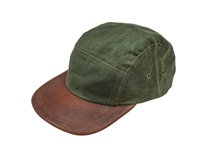 Five Panel Hat - Waxed Canvas - Olive