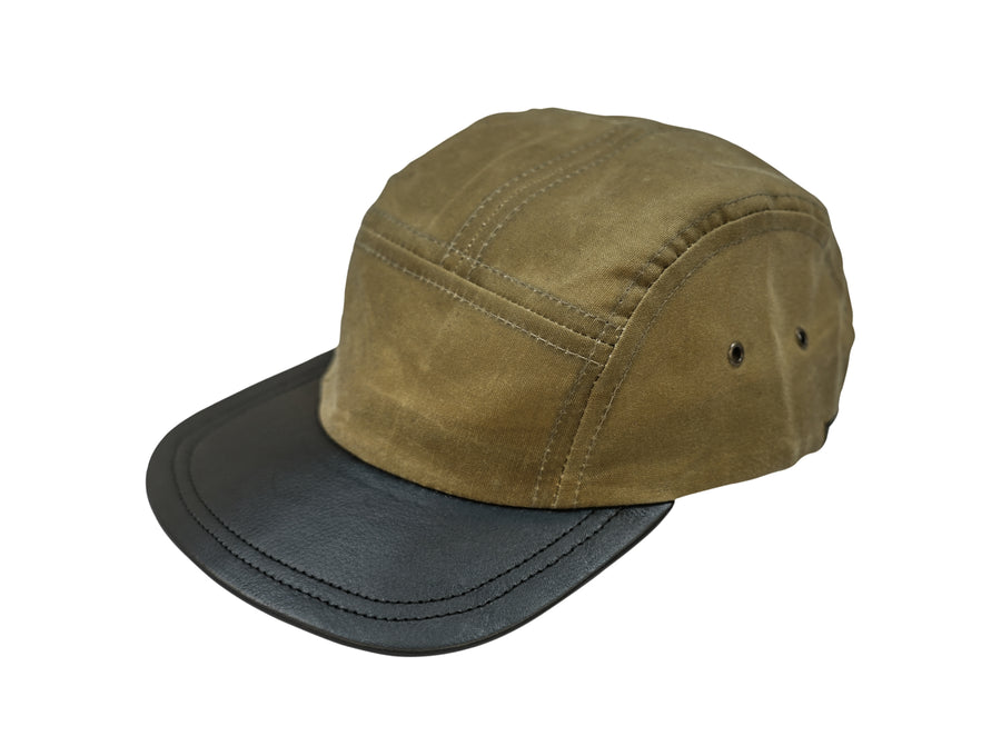 Five Panel Hat - Waxed Canvas - Field Tan