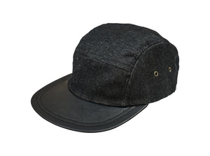 Five Panel Hat - Waxed Denim - Black