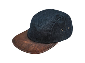 Five Panel Hat - Waxed Denim - Indigo
