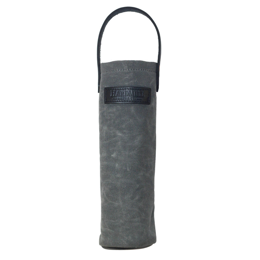 Wine Tote - Waxed Canvas - Charcoal