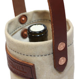 Wine Tote - Waxed Canvas - Natural