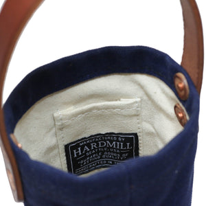 Wine Tote - Waxed Canvas - Navy