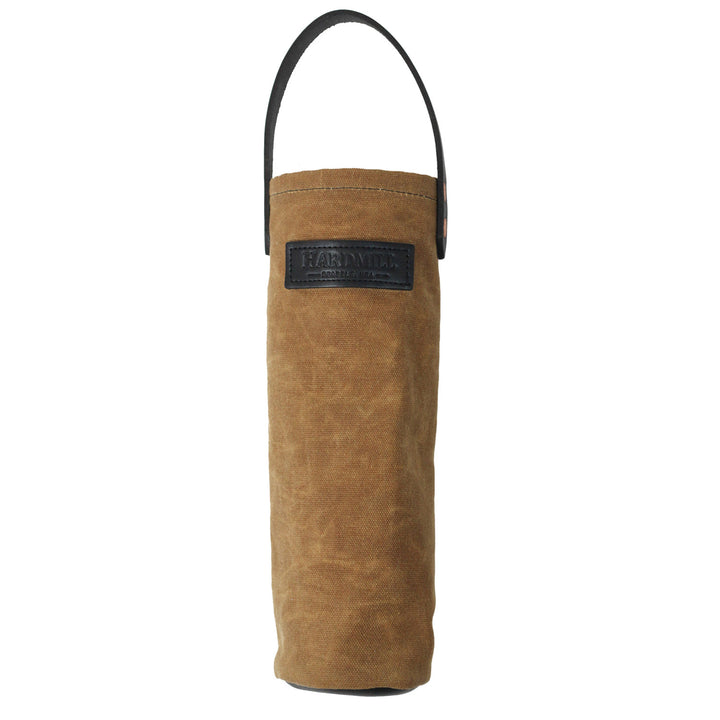 Wine Tote - Waxed Canvas - Tan
