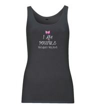 Load image into Gallery viewer, CIP: I am possible Women's tank top