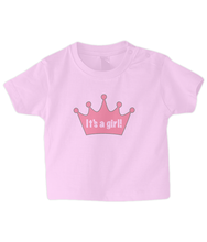 Load image into Gallery viewer, Crown girl Baby T Shirt