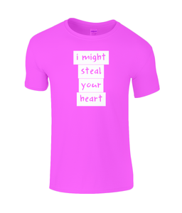 I might steal your heart Kids T-Shirt