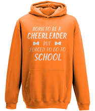 Load image into Gallery viewer, CIP: Born to be a cheerleader Kids Hoodie
