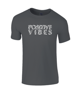 Positive Vibes black Kids T-Shirt