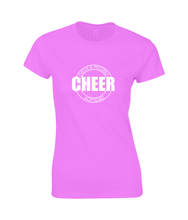Load image into Gallery viewer, CIP: Cheer Ladies Fitted T-Shirt