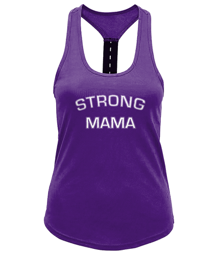 Strong Mama Ladies Performance Strap Back Gym Vest