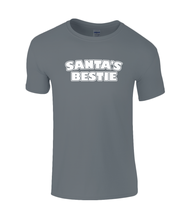 Load image into Gallery viewer, Santa's Bestie Kids T-Shirt