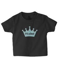 Load image into Gallery viewer, Crown Boy Baby T Shirt
