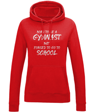 Load image into Gallery viewer, CIP: Born to be a Gymnast Ladies Hoodie