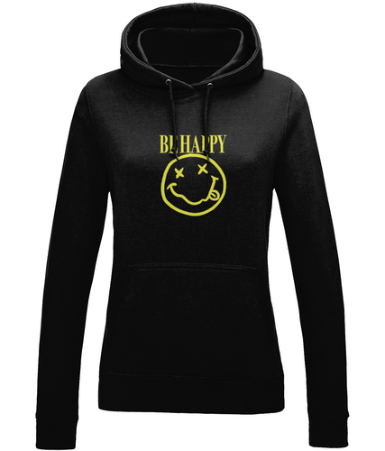 Be Happy Ladies Hoodie
