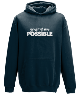 CIP: Gen Possible white Kids Hoodie