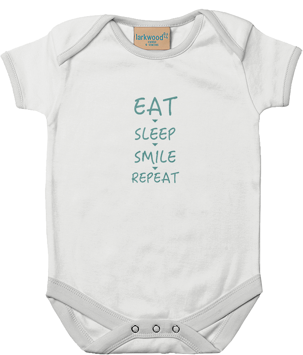Eat, Sleep, Smile... Baby Bodysuit