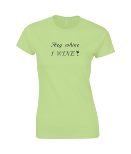 I wine Ladies Fitted T-Shirt