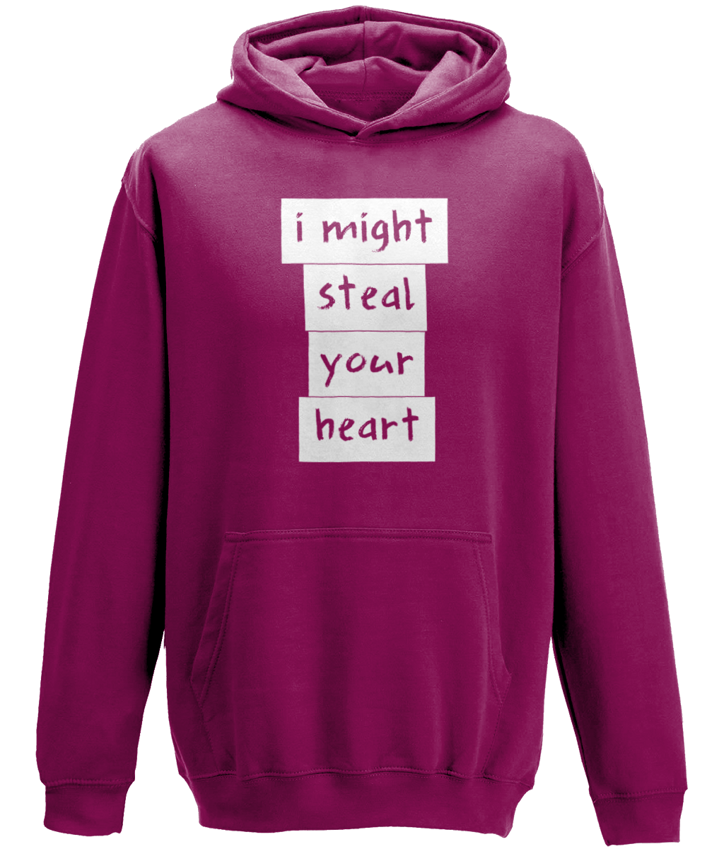I might steal your heart Kids Hoodie