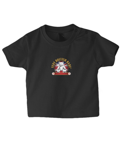 BZ002 Babybugz Baby T Shirt Very British Baby