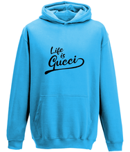Load image into Gallery viewer, Life is Gucci Kids Hoodie