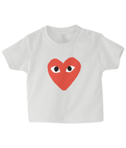 CDG Heart Baby T Shirt