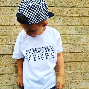 Positive Vibes white Kids T-Shirt