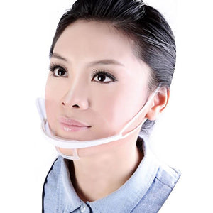 Mouth Shield PPE Plastic Face Mouth Visor Protection - Pack of 10 pcs