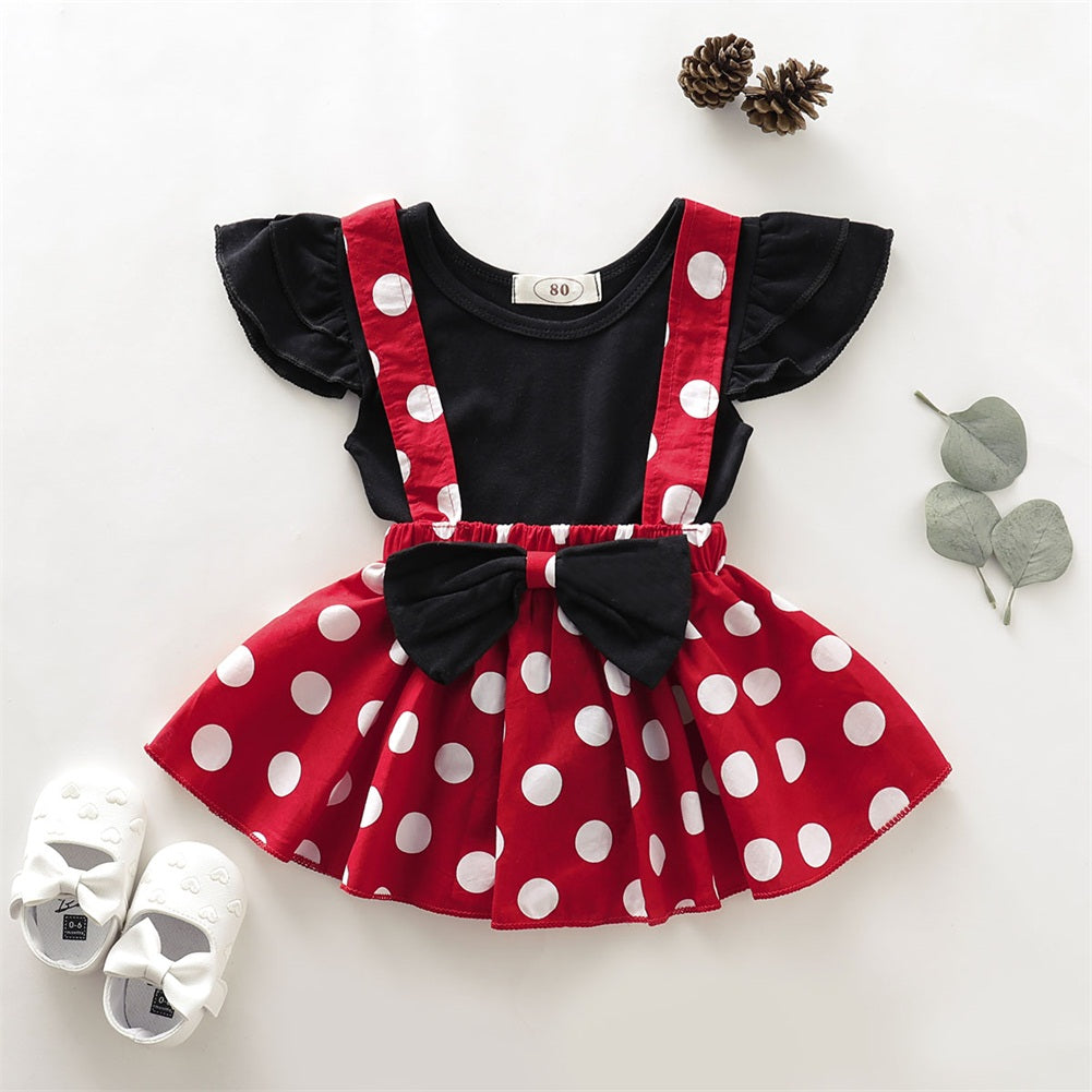 Baby / Toddler Top and Polka Dots Skirt set