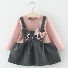 Load image into Gallery viewer, Cute Cat Design Dress for Baby and Toddler Girl